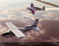 Cessna 210 and Slick 540 Air-to-Air