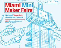 Miami Mini Maker Faire Flyer Illustration