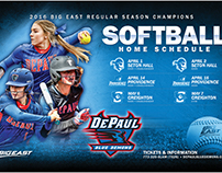 Softball Postcard & Schedule Card Design