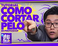 "Video tutorial ""Como cortar pelo"" en Photoshop."