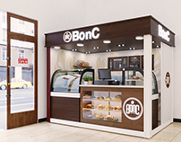 BonC Kiosk Cafe Design in Lon Don