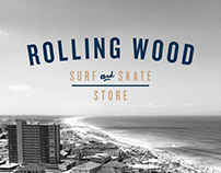Rolling Wood Surf and Skate Store identity