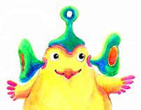 "Character design ""Litlle alien"""