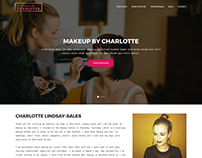 Website for a makeup artist from New Zealand