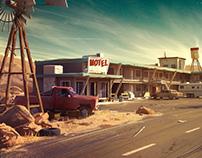 Dark Days : motel environment concept