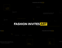 Fashion Invites Art - Concept design