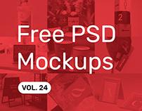 Free PSD Mockups vol. 24