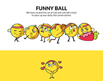 Funny Ball Emoji Set