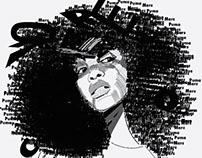 Type Illustration: Erykah Badu