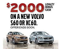 Volvo Loyalty Bonus Cash Program