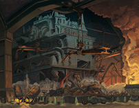 'Mortal Engines' graphic novel illustrations.