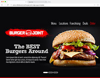 Web Design: Burger Joint Single Page Template