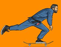 BJJ Black Belt / Skateboarder Anderson Soares