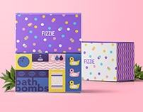 Fizzie Bath Bombs Packaging