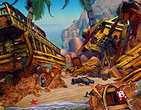 3D game design - Environment level: shipwreck island