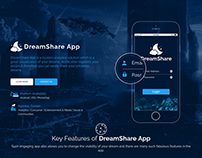 DreamShare App Portfolio Web Page Design