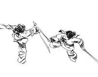 Sword fighting - animation sequence studies