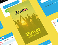 Janhit Mobile UX/UI Design in AI
