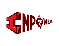 IMPOWER Logo Design for Youth Resource and Learning Po