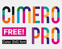 CIMERO PRO - FREE COLOR SVG FONT