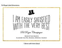 Pol Roger Champagne packaging