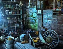 "Hidden object backgrounds for ""Curse at Twilight"" game"