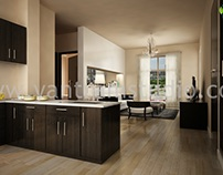 Beautifully Designed Kitchen Interior Visualization