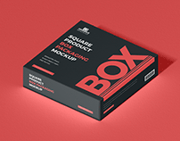 Free Product Box Packaging Mockup