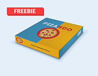 Freebie Pizza Box Packaging Mock-Up