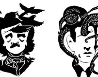 Horror Writer Silhouettes