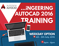 AUTOCAD 2016 TRAINING POSTER