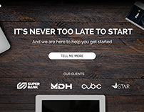 Day 003 Landing page (above the fold)