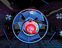 CyberArc VR// experiencing archery in scifi environment