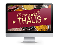 Thali Menu poster & photoshoot for Govinda's restaurant