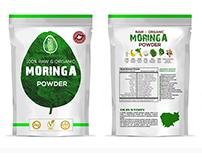 Label design for moringa powder