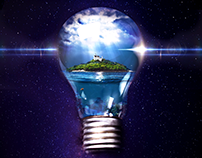 Photomanipulation Poster- Brighten Your Ideas