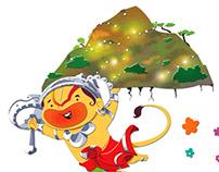 Lord hanuman (Children Book Illustrations)