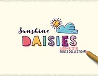 Sunshine Daisies Handwritten Fonts Collection