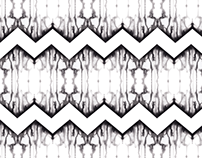 Black Watercolor Zag- Repeating Pattern