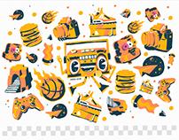 Mr.Spray Sticker set