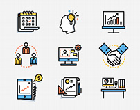 Office and Business Lineal Color Icon - Smart Start