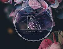 Petal's Shop- brand identity, logo & cards