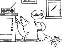 2016. WWNO - Summer Drive Dog Illustration