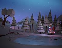 Lowpoly Holiday Scene