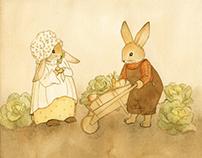 FARMER O'HARE & BONNIE BUNNY (Children's Illustration)