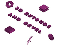 3D Extrude & Bevel in Basic Shapes Tutorial