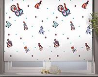Slavic-themed designs for roller-blinds