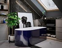3D visualization bathroom for DOM ART, Poland.