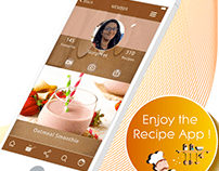 Recipe App - UX/ UI design of Mobile App