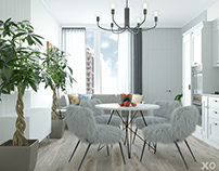 Scandinavian interior in 113 m2